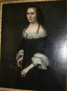 Portret van Catharina Wallenstedt (1627-1719)