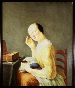 Portret van Agneta Chapman (1663-1744)