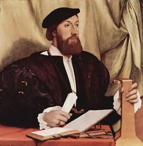 Portret van een man met een luit