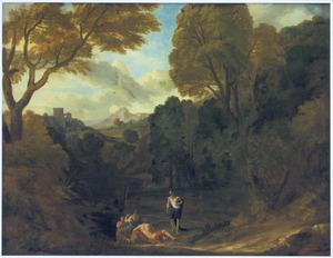 Zuidelijk landschap met klassieke stoffage