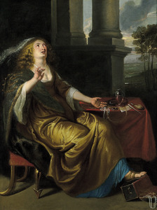 De boetvaardige Maria Magdalena verwerpt de wereld