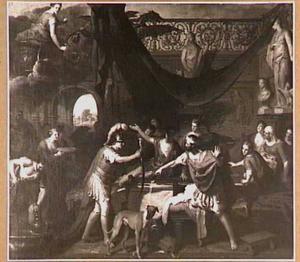 Aegus herkent Theseus als zijn zoon en belet hem Medea's gifbeker te drinken