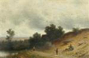 Figuren in een landschap