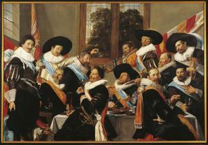 Groepsportret van de schutters van de Kloveniersdoelen, Haarlem 1627