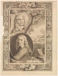 Portretten van Paulus Potter (1625-1654) en Jacob van der Does (1623-1673)