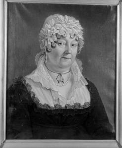 Portret van Christiana Helena Geertruida Meckema van Burmania (1744-1819)