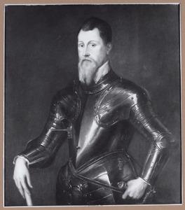 Portret van een officier in wapenrusting