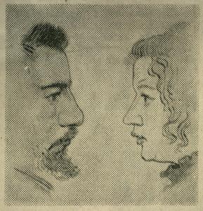 Portret van Albert en Kitty Verwey