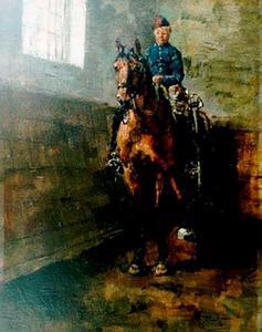 Huzaar uit het Regiment Huzaren van Boreel