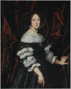 Portret van een vrouw, mogelijk Marguerite Louise d' Orléans, vrouw van groothertog Cosimo III de' Medici
