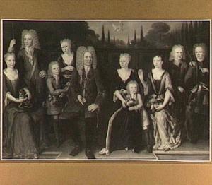 Portret van de familie van Lidt de Jeude uit Gorcum