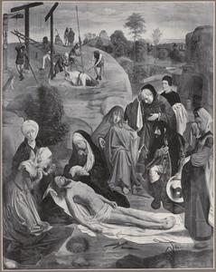 De bewening van Christus (voorzijde); Julianus Apostata laat het gebeente van Johannes de Doper verbranden (achterzijde)