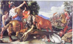 Mythologisch stierengevecht