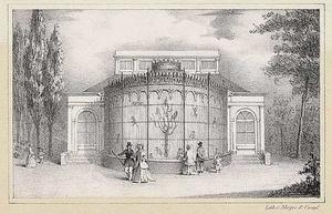 Exterieur van het apenhuis