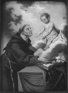 De H. Antonius van Padua ziet het Christuskind in een visioen