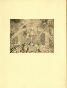 Emblema met kroon, duif, kruis en regenboog