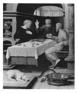 De maaltijd te Emmaus (Lucas 24: 30-31)