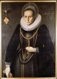 Portret van Henrica van Voorst (....-1641)