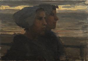 Twee Scheveningse vissersvrouwen
