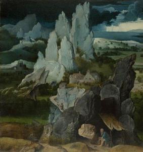 Landschap met de boetvaardige H. Hieronymus