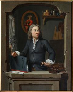 Zelfportret van Gerrit Zegelaar (1719-1795)
