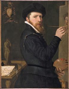 Zelfportret van Isaac Claesz. van Swanenburg (1537-1614)