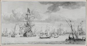 Vloot op de rede van Amsterdam
