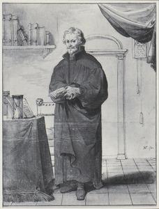 Portret van Philipp Melanchton in zijn studeervertrek