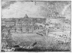 De Tiber en Castel Sant' Angelo in Rome