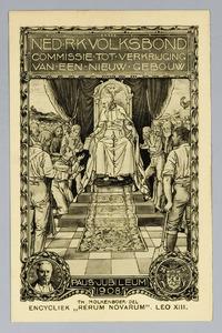 Paus Leo XIII schenkt zijn encycliek 'Rerum Novarum' aan het katholieke werkvolk van de wereld