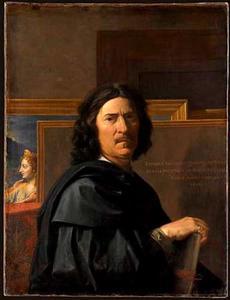 Zelfportret van Nicolas Poussin (1594-1665)