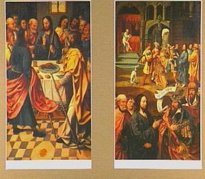 Het Paasmaal; op de keerzijde Christus en de centurion van Kapernaüm