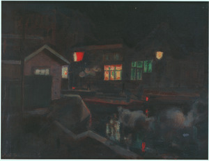 Kostverlorenkade, Amsterdam, bij avond