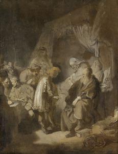 Jozef vertelt zijn dromen aan zijn ouders en zijn broers