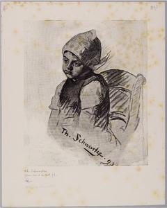 Portret van een meisje uit Marken