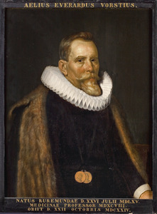 Portret van Aelius Everhard Vorstius (1565-1624)