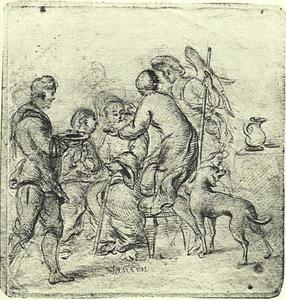 Tobias zijn vader helend (Tobit 11: 13-15)