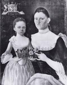 Dubbelportret van Maria Gertrudis Adriana Josepha de Selijs de Fanson (1730-1785) enPetronella Jacoba Maria Elisabeth van Cammingha (1763-1792)