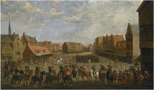 De afdanking van de waardgelders door prins Maurits op de Neude te Utrecht, 31 juli 1618