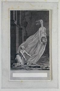 Illustratie bij 'De vrouw en de geest' uit de Fabelen en vertelsels van F.C. Gellert