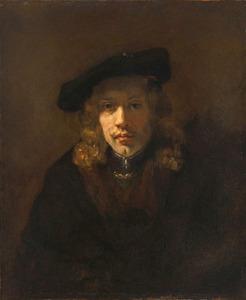 Man met een baret