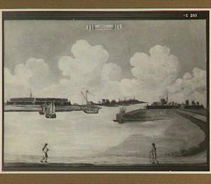 Gezicht op de forten Lillo en Liefkenshoek (op de linker- en rechteroever van de Schelde)
