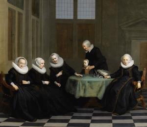 De regentessen van het Burgerweeshuis te Amsterdam
