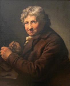 Portret van de schilder Daniel Nikolaus Chodowiecki (1726-1801)