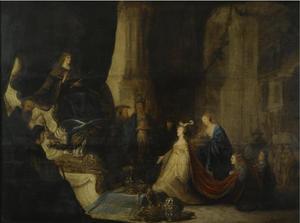 De koningin van Seba komt voor Salomo (1 Koningen 10:1-3;2 Kronieken 9:1-9)