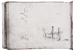 Zeilschip en roeiboot