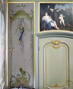 Rocaille-ornamenten met verwijzingen naar de jacht
