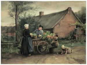 Hollandse groenteverkoper