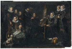 Portret van de schilder en zijn familie