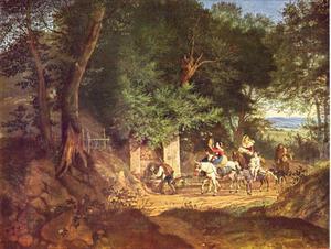 Een bron in het bos bij Ariccia